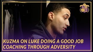 Lakers Post Game: Kuzma Compliments Luke On Coaching The Team Well Through Adversity and Injuries