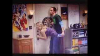 Sheldon trying to hump hot Penny (bigBangTheory)