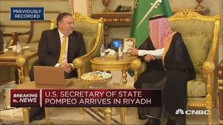 US Secretary of State Pompeo visits Saudi Arabia after journalist disappearance   Squawk Box Europe
