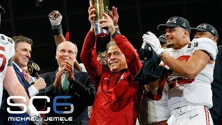 Nick Saban says the national championship win made him show more emotions than normal   SC6   ESPN