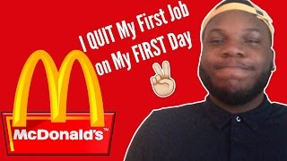 Quitting My First Job at Mcdonalds on My FIRST DAY | Storytime HeIsArmani