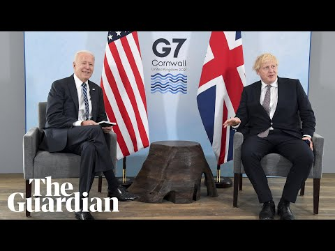 'We both married way above our station': Boris Johnson meets Biden in Cornwall