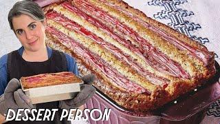 Claire Saffitz Makes Rhubarb Cake | Dessert Person