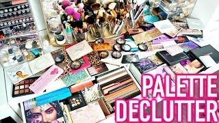 BEAUTY ROOM DECLUTTER | MY PALETTE COLLECTION