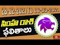 Leo Weekly Horoscope By Dr Sankaramanchi Ramakrishna Sastry | 28 Feb 2021 - 06 Mar 2021