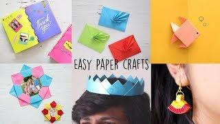 6 Easy Paper Craft Ideas | DIY Videos | Ventuno Art