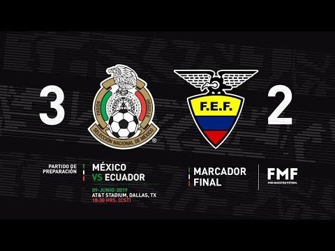 MEXICO vs ECUADOR 3-2 Amistoso Internacional RESUMEN y ANALISIS