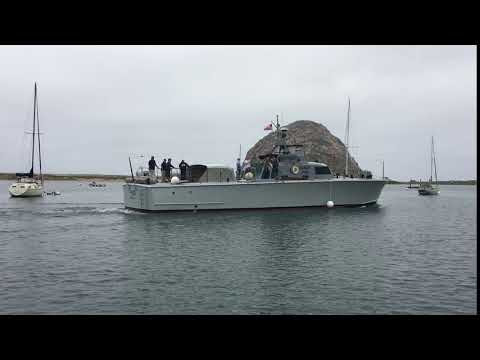 Watch the arrival of a WWII P-520 Crash Boat in Morro Bay, CA. Take a tour during Patriots' Pride Week.