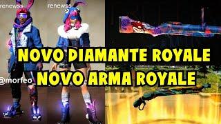 NOVO DIAMANTE ROYALE E ARMA ROYALE DE PÁSCOA FREE FIRE