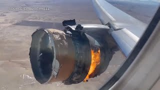 Watch: Boeing 777 Engine Catches Fire Over Colorado