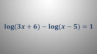 Logaritemska enačba 7