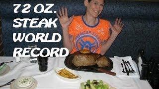 WORLD RECORD Molly Schuyler Devours 72 oz. Steak in Under 3 Minutes!