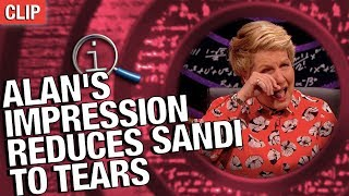 QI | Alan's Impression Reduces Sandi To Tears