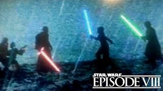Star Wars Episode 8 The Last Jedi - Luke, Finn & Rey VS Snoke, Kylo & Von - Duel Description