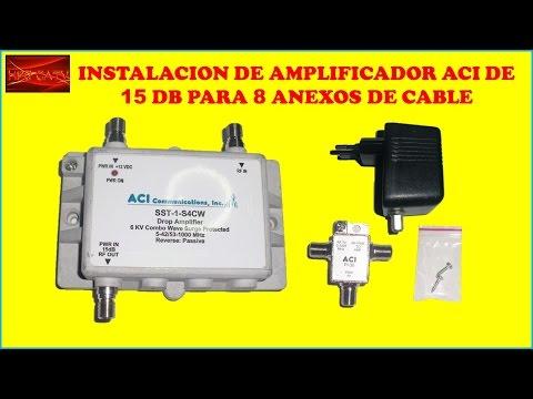 Instalacion de amplificador de se al aci para 8 anexos de for Perdida de senal tv