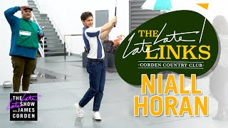 Niall Horan Golfs Through The Late Late Show Offices
