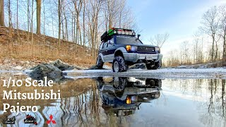1/10 Scale Mitsubishi Pajero  Snow and Icey Canadian Weather Off-Road 4X4. (4K Version)