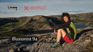 Adam Ondra - Illusionist 9a - Flatanger Norway (2013)