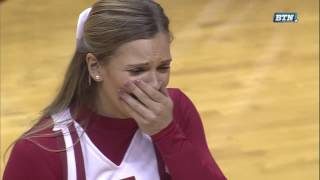 Collin Hartman Proposes to Girlfriend on Senior Day | Indiana Hoosiers | Big Ten Men's Basketball