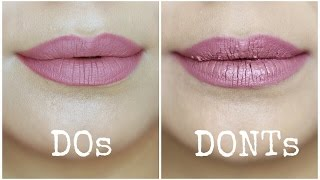 Liquid Lipstick Mistakes to Avoid | Do's and Don'ts