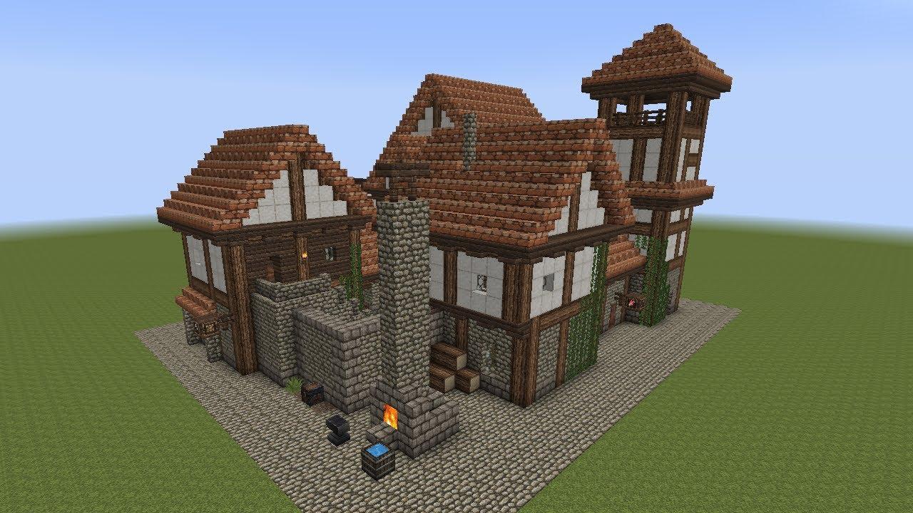 minecraft  fachwerkhaus  halftimbered house 1  youtube