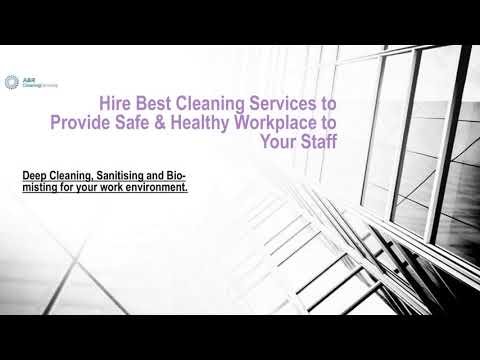 Hire Best Cleaning Services to Provide Safe & Healthy Workplace to Your Staff