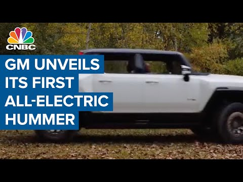 General Motors just unveiled its first all-electric Hummer—the GMC Hummer EV