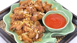 Thai Fried Pork with Garlic (Thai Food) - Moo Tod Gratiem หมูทอดกระเทียม