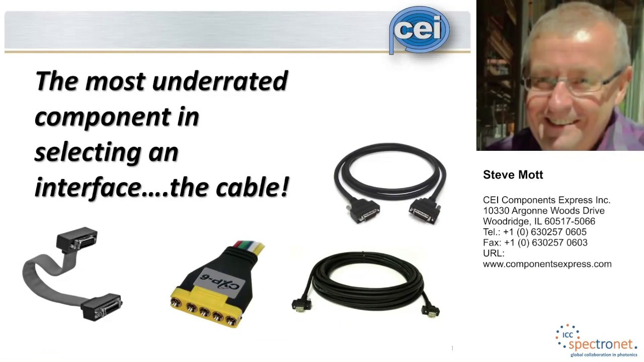 The most underrated component in selecting an interface ... the cable! - Machine Vision Technology Forum 2017