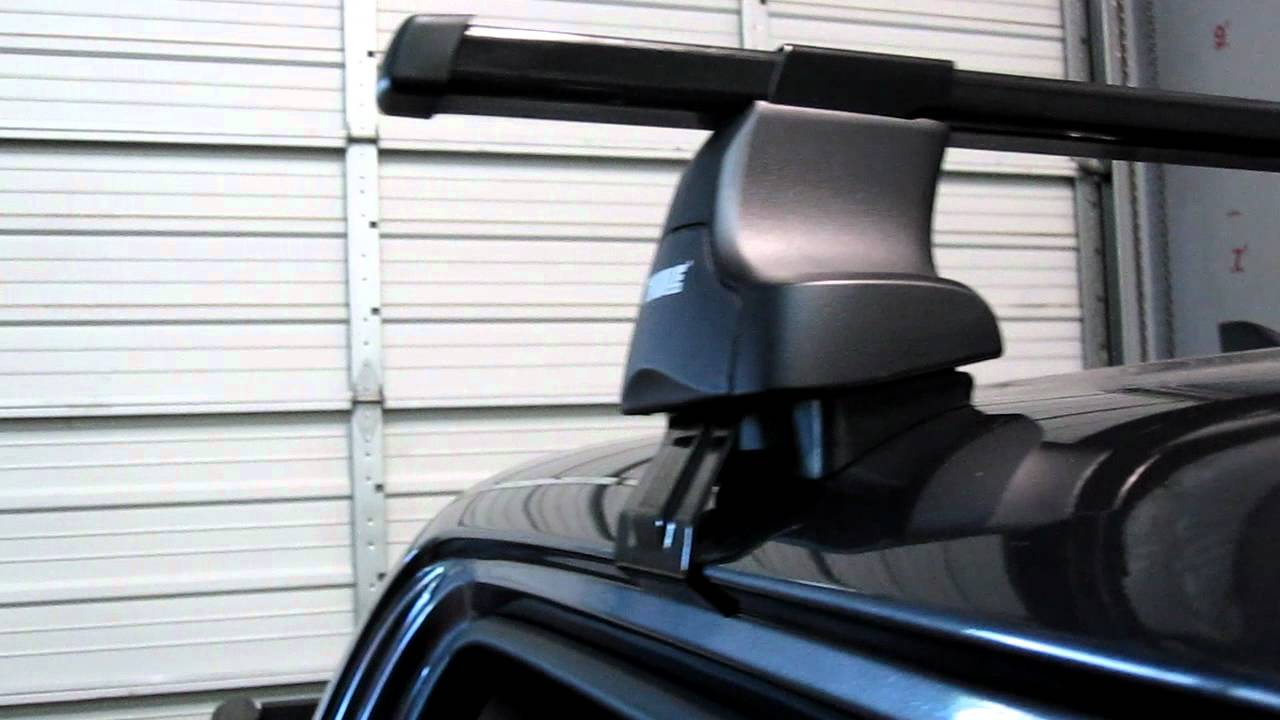 2012 Toyota Tacoma With Thule 480 Traverse Base Roof Rack