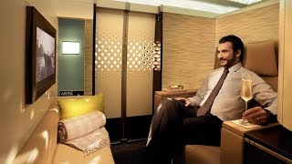 Etihad A380 First Class Apartment London to Abu Dhabi: MY BEST FLIGHT EVER!