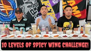 INSANE 10 LEVELS OF HOT WINGS CHALLENGE! Ft. JC & Mark | @HOT ONES