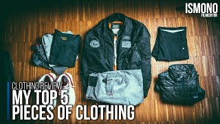 My Top5 pieces of clothing. Sneakers, jeans, merino wool and jackets.