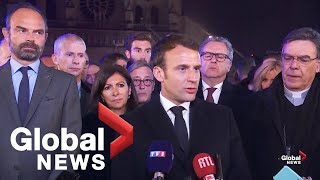 Notre Dame fire: Emmanuel Macron, officials address the nation as cathedral continue to burn