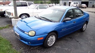 1999 DODGE NEON SPORT 2.0L start up, walk around and review