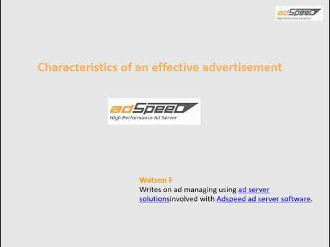 Characteristics of an effective advertisement - Video by Adspeed