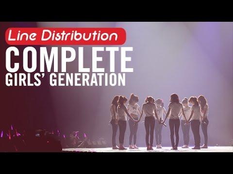 [Line Distribution] Complete - SNSD
