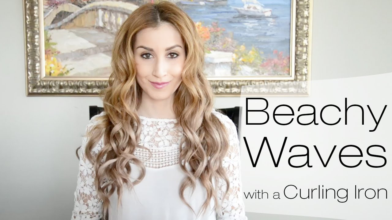 Beachy Waves Hairstyle for Everyday Using a Curling Iron ...
