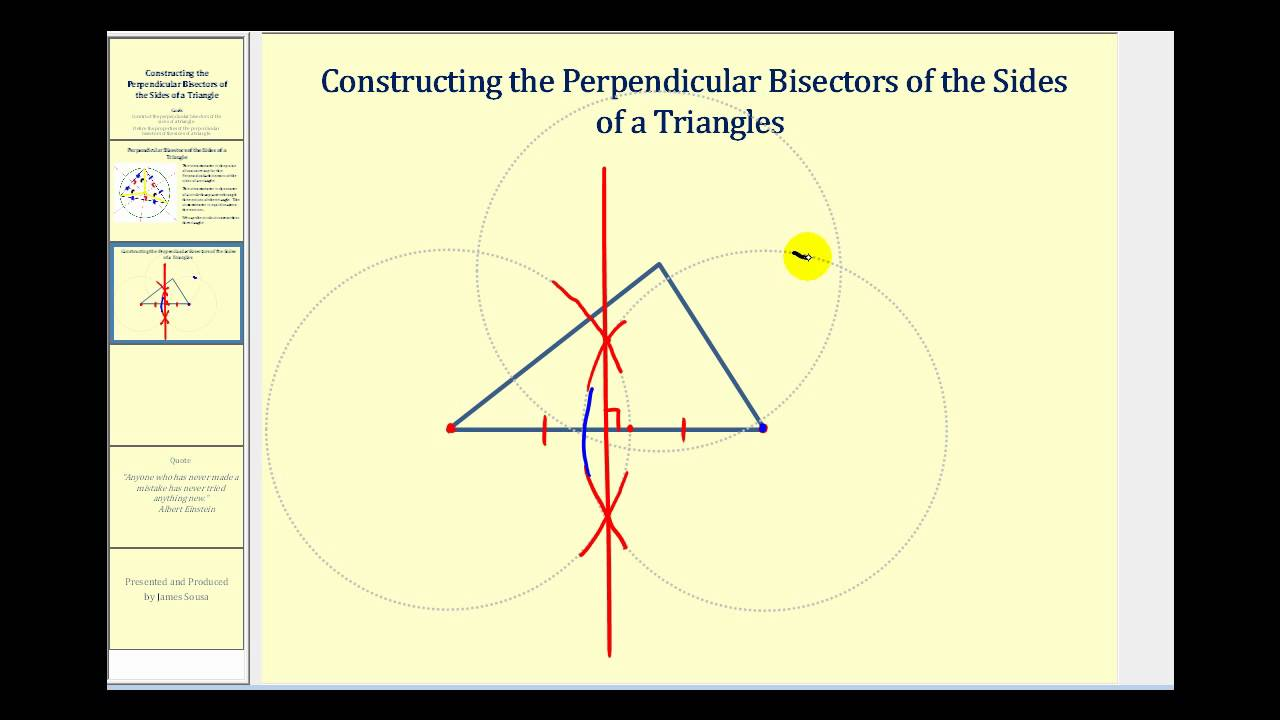 constructing the perpendicular bisectors of the sides of a triangle youtube. Black Bedroom Furniture Sets. Home Design Ideas