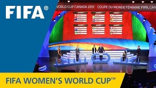 Women's World Cup Official Draw Summary