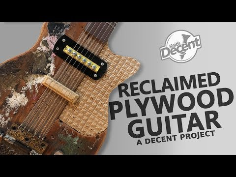 DIY  ELECTRIC GUITAR FROM PLYWOOD - a Decent project