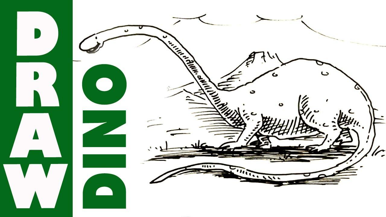 How To Draw Dinosaur Cartoon