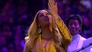 Beyonce Live Performance - Kobe Bryant Memorial Service