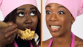 Danielle Brooks & Samira Wiley Make Orange and Black Mac & Cheese