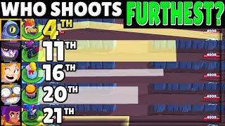 Brawl Stars OLYMPICS 2!   The RANGE Test!   Who SHOOTS Furthest?!