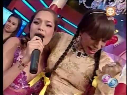 Corazon Serrano en Super Sabado Primera Vez Aparencia con La Chola Chabuca (2-16-13)