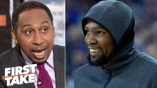 'I'm entitled to dream!' - Stephen A. predicts KD signs with the Knicks | First Take