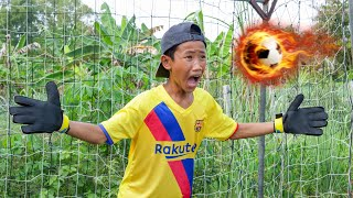 NERF FOOTBALL REAL VS BARCA SHOT BATTLE