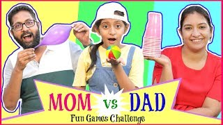 Funny Games Challenge - ft. MOM & DAD   #Fun #Parents #Crazy #CookWithNisha #MyMissAnand