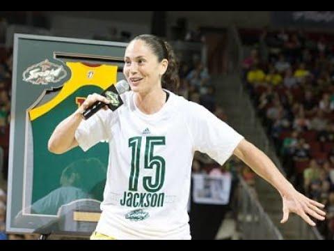 Sue Bird's emotional speech  | Lauren Jackson's jersey retirement ceremony